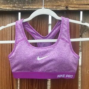 Nike dri fit racerback sports bra size xs purple